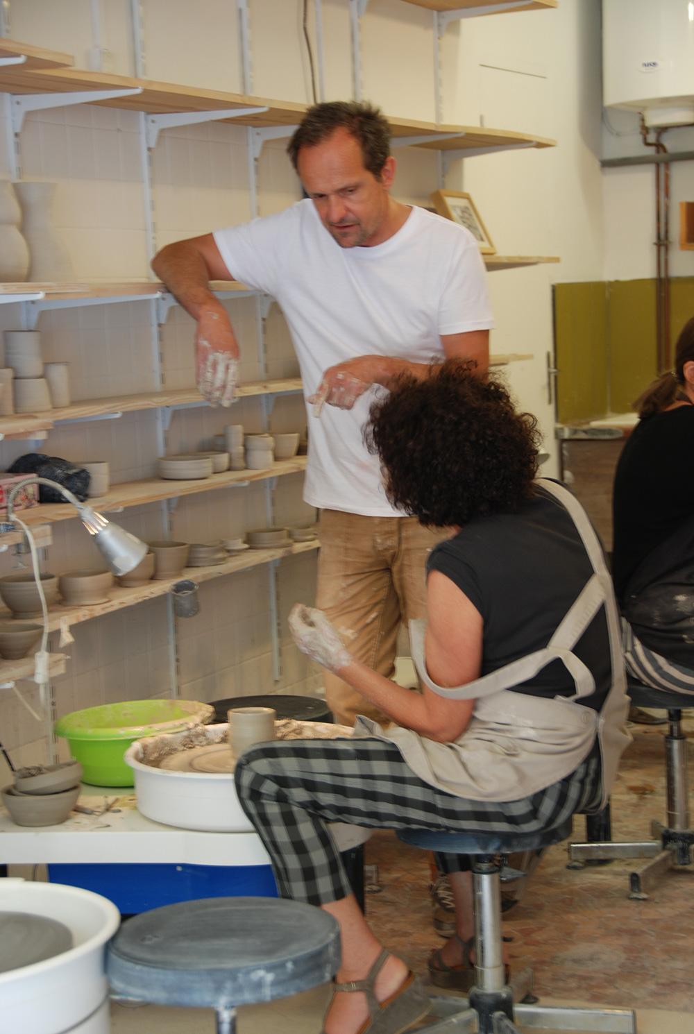 Stage de tournage céramique Paris